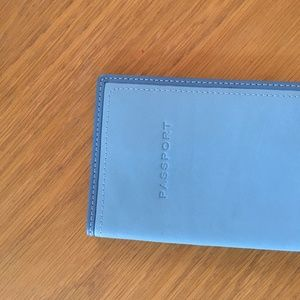 coach leather passport holder